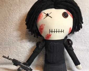 Riot Gear Glenn - Inspired by TWD - Creepy n Cute Zombie Doll (P)