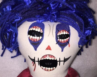 Kavity the Klown-inspired Creepy n Cute Zombie Doll (D)