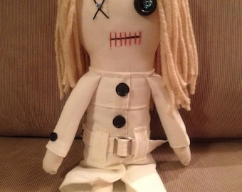 """Barbra -  Inspired by George A Romero's """"Night of the Living Dead"""" - Creepy n Cute Zombie Doll (D)"""