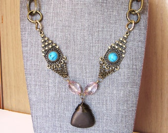 Chunky Chain and Stone Necklace