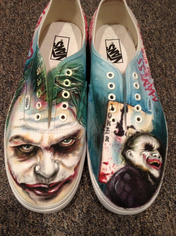 Vans De Joker pintados a medida