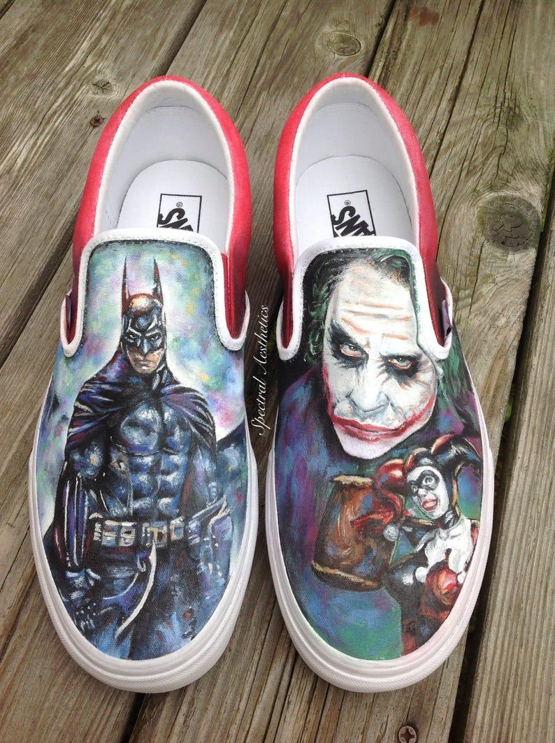 bb3e400867a901 Custom Joker Harley Quinn Batman Shoes