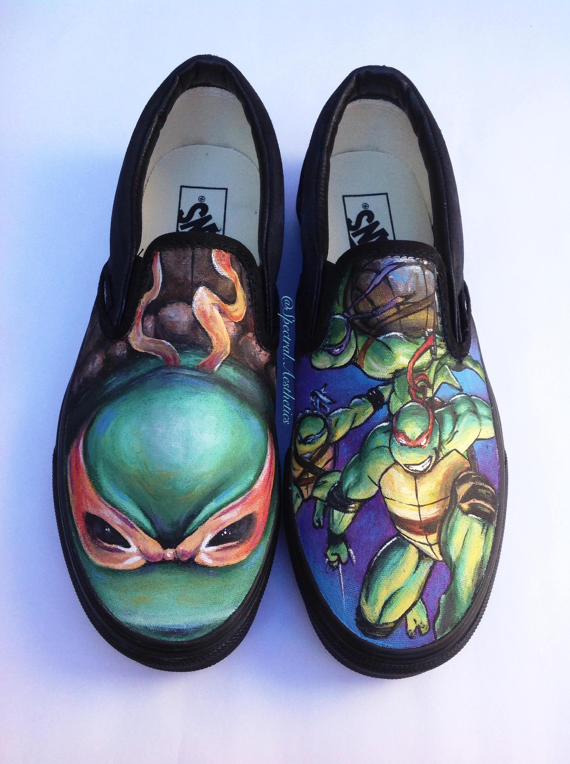 chaussures chaussures chaussures peintes à la main des tortues ninja 11fbc1