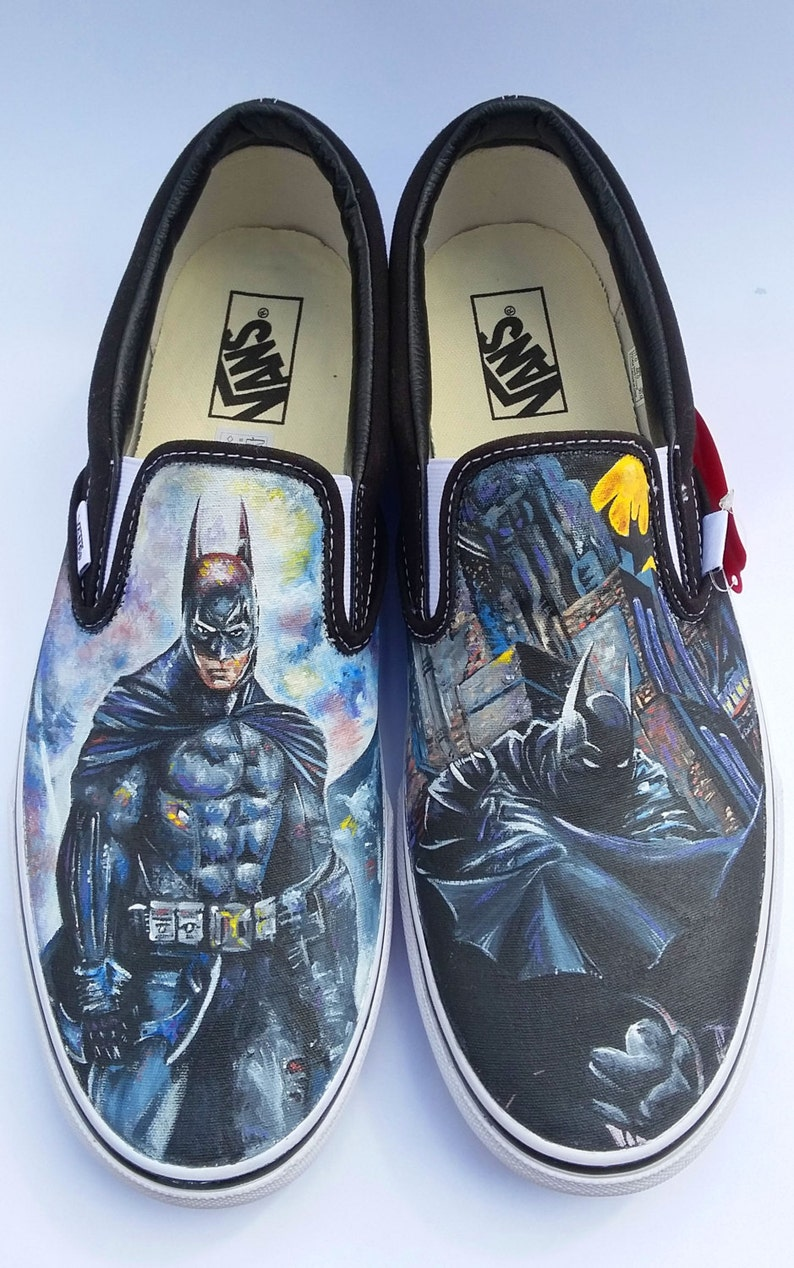 8e310adf91 Hand Painted Batman Shoes
