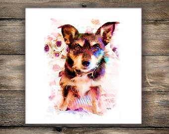 Custom Pet Portrait, Downloadable Digital Artwork, Dog Portrait, Digital Pet Painting Based on Photo, Memorial Pet Painting, Pet Lover Gift