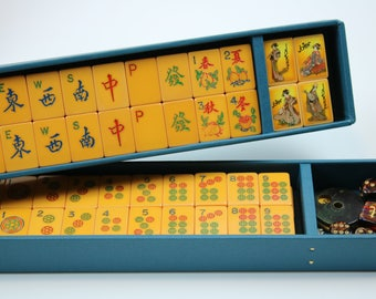 Mah Jong TILE TRAYS ~ BLUE ~ fits vintage cases ~ Mah Jongg