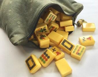 Mahjong Tile Bag ~ Olive Green ~ Mah Jongg