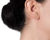 Silver Fatima hand stud earings, Silver Stud Earrings, Tiny Earrings, Sterling Silver Studs, Post Earrings, Chic, Minimalist, Jewelry, Gift