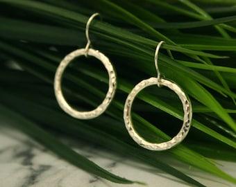 Infinity Silver Drop Earrings