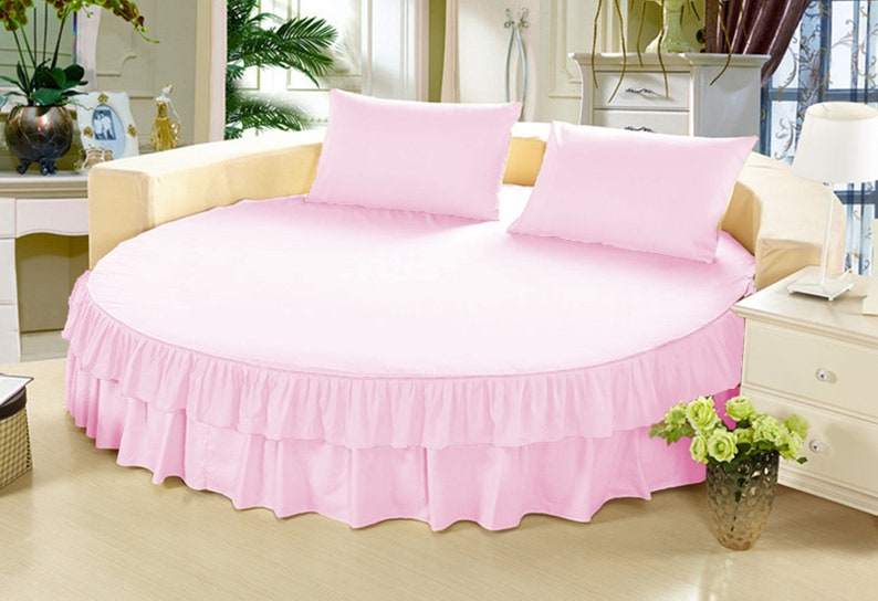 """1000TC Egyptian Cotton Multi Ruffle Bed Skirt 15/"""" Drop Choose Size n Color"""
