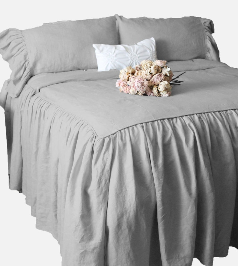 Comfort Beddings  Luxurious 800TC Bedskirt 18 Drop Length 100/% Egyptian Cotton Queen Size Dark Grey Solid