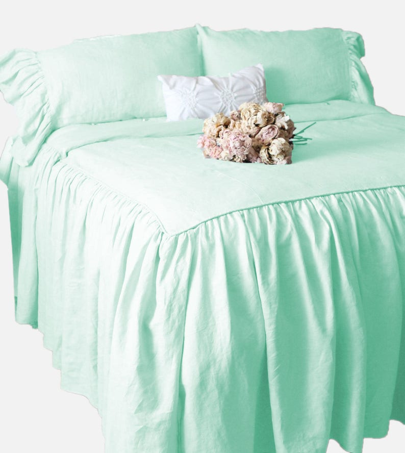New Waterfall Half Ruffle Duvet Cover Set All Size /&Color 1000TC Egyptian cotton