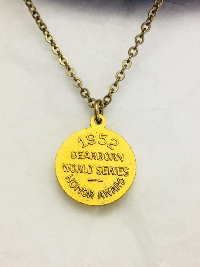 CHARM  Tie Clip-Little League Baseball Vintage 1952 Dearborn World Series Honor Award