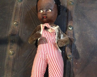 Vintage 1930s Black Baby Doll Made in England