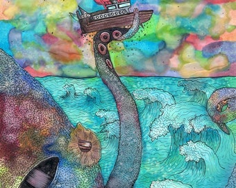Octopus Ship Wreck Digital Download