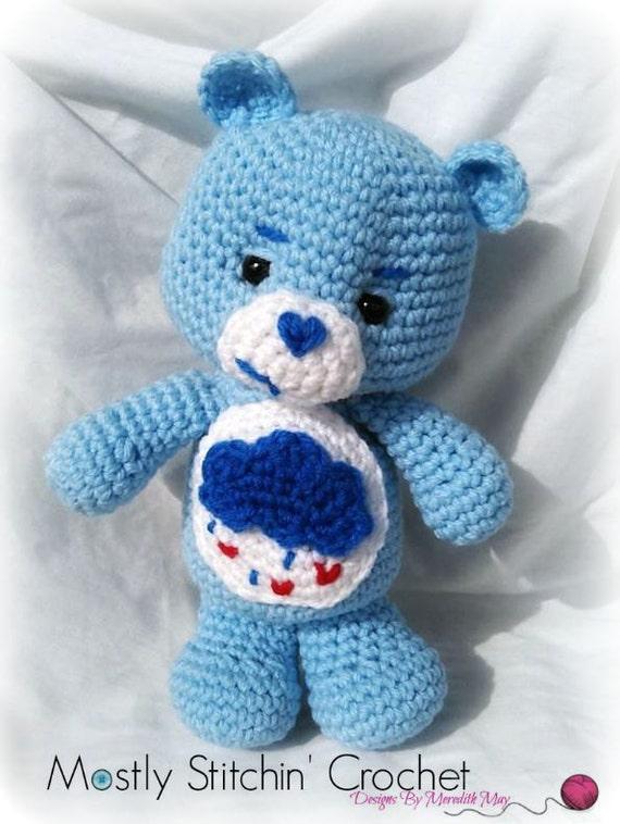 Care Bear; Grumpy Bear; CROCHET PATTERN PDF from MostlyStitchin on ...