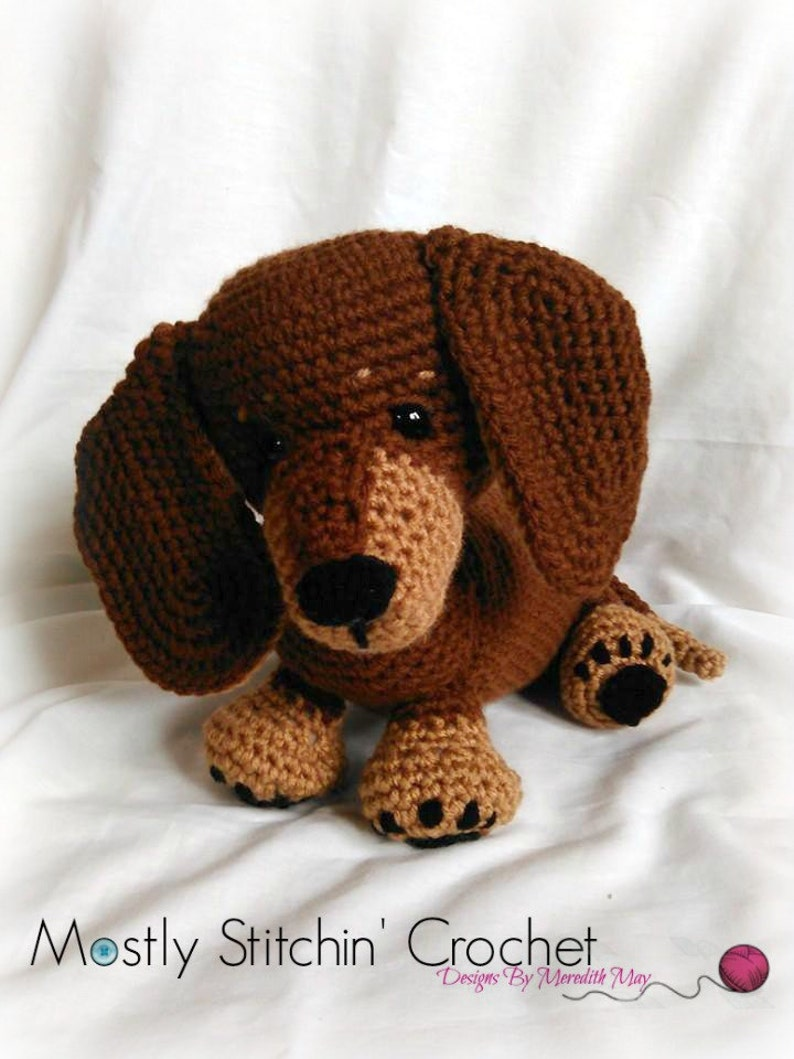 Dash the Dachshund Pup CROCHET PATTERN PDF image 0