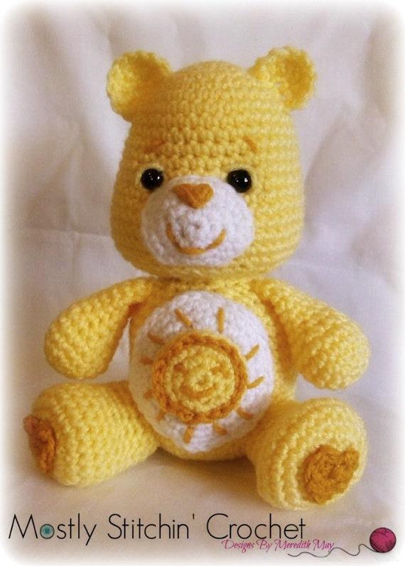 Care Bear Funshine Bear Crochet Pattern Pdf