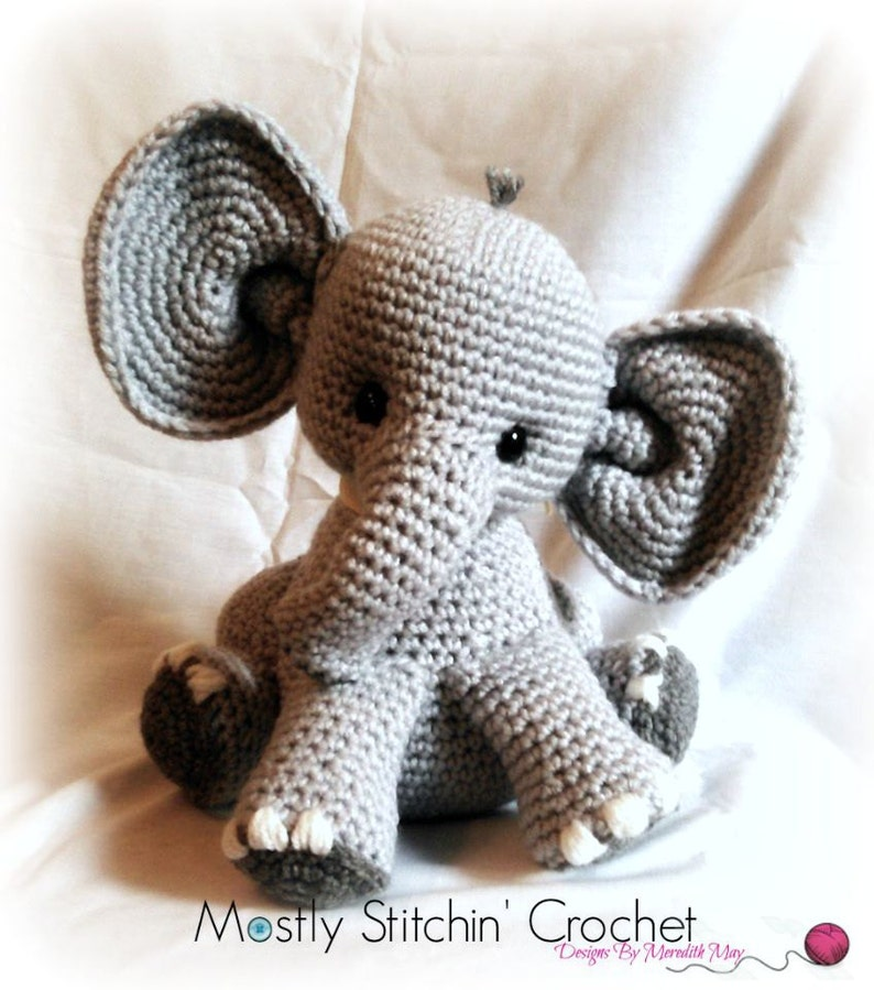 Percy the baby Elephant CROCHET PATTERN PDF image 0