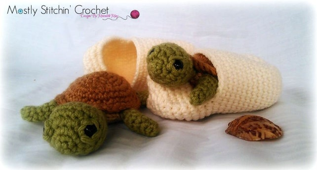 Found On Etsy Baby Turtle With Egg Crochet Pattern Ad T