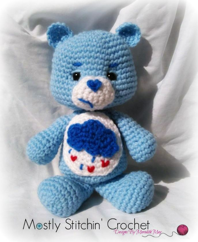 Care Bear Grumpy Bear Crochet Pattern Pdf From Mostlystitchin On