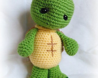 Tucker Turtle; CROCHET PATTERN; PDF