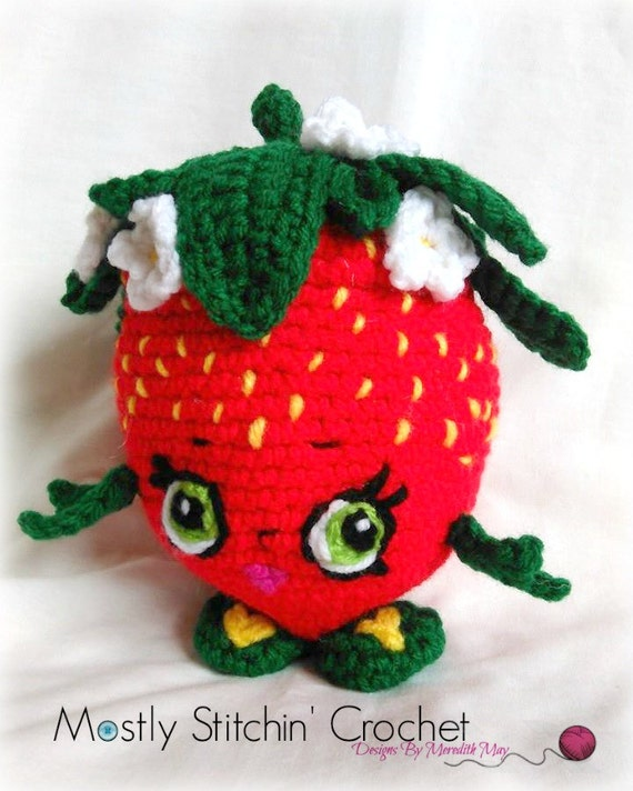 Shopkins Inspired Strawberry Kiss Crochet Pattern Etsy