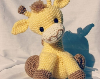 Carson the Giraffe; CROCHET PATTERN PDF