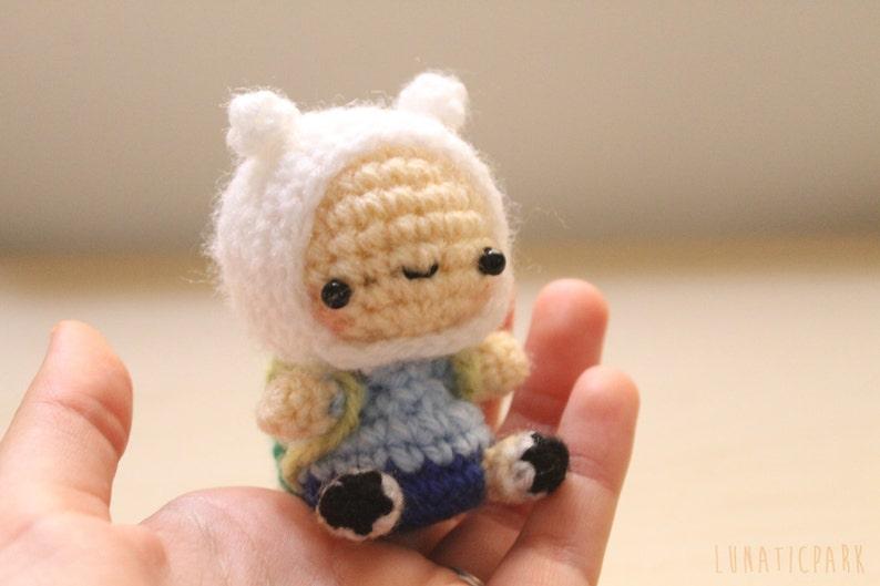 Cute amigurumi chibi Finn adventure time crochet doll image 0