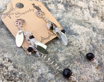Sterling Silver and Crystals Earrings