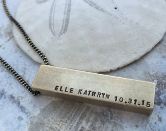 Personalized necklace, Mothers day gift, name birthdate necklace, new mom gift, gift for grandma, Personalized jewelry, newborn gift