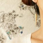 Spike drop earrings, brass jewelry, statement earrings, long spike steampunk jewelry
