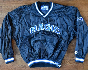Vintage 80 s 90 s Orlando Magic Starter Brand Windbreaker Jacket Pullover Coat  NBA Gear - Unisex Large 91d98655a