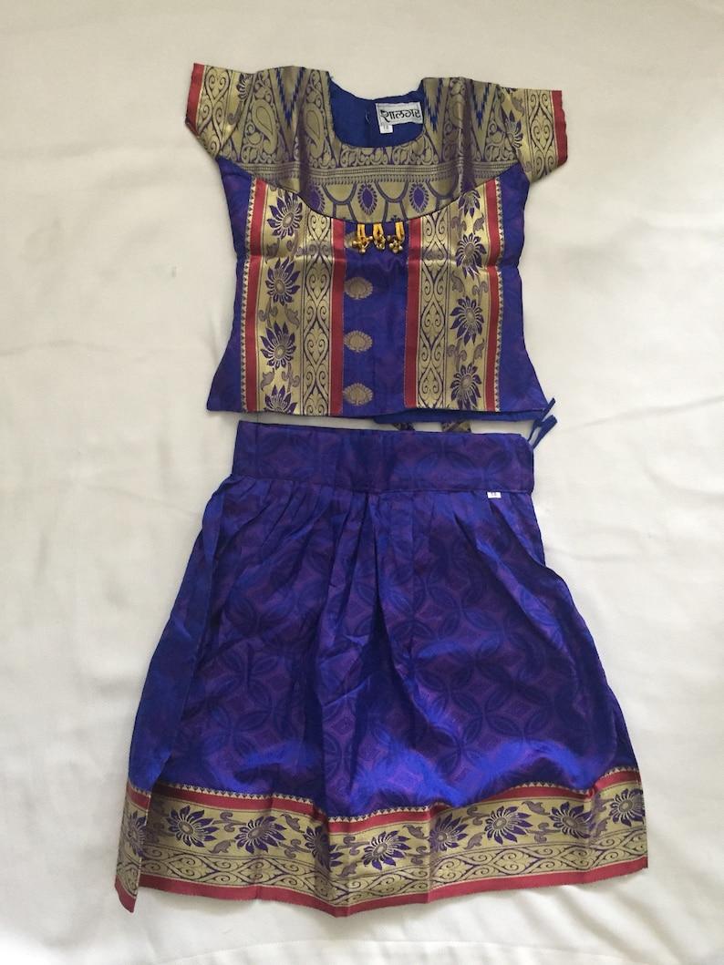 b77871f79 Indian ethnic wear for kids traditional pattu dress set