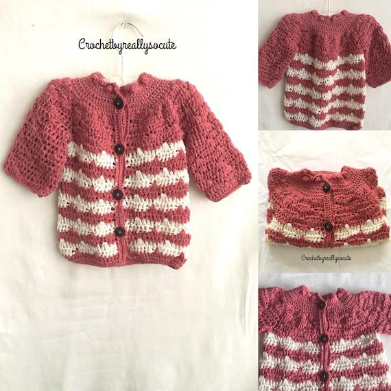 Handmade Merino Baby Cardigan Woolen Baby Sweater 6 9 Month Etsy