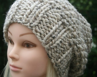 153b6642fe8 Women s knit hat Slouchy Beanie hat 11 COLOUR CHOICES Winter hat Wool hat  Hand-knitted hat for women Gift for her Knit Accessories UK shop