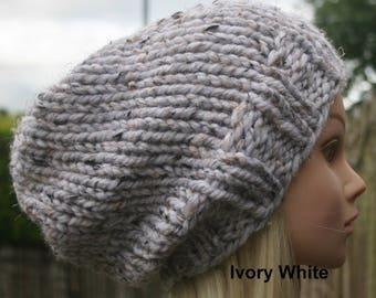 38bdd69dd36 Women s knitted winter hat Beanie hat Women s hand knit hat 11 COLOUR  CHOICES Knitted Beanie hat