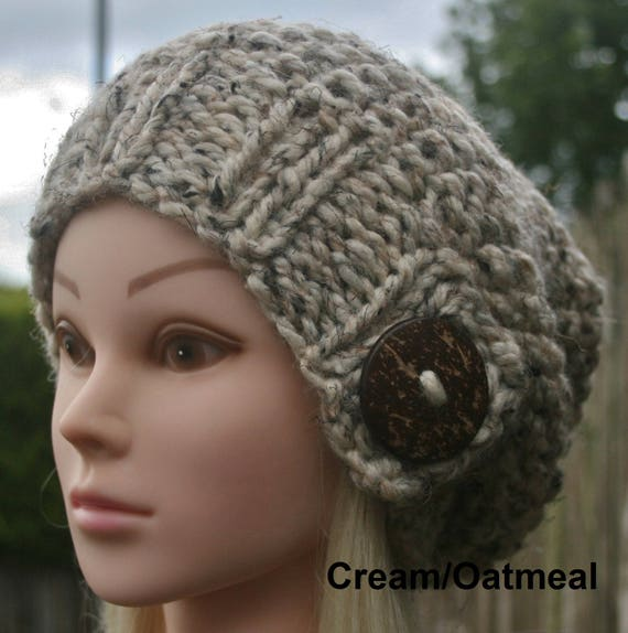 Knitted Women s hat Slouchy Beanie hat 11 COLOUR CHOICES  cee566b220
