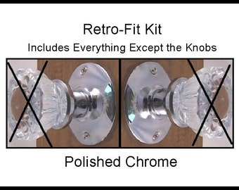 Antique Door Knobs Install In Modern (u0026 Most Old Doors) PaPau0027s Exclusive  Retrofit Kit U003dEverything You Need Except The Knobs. Very Affordable