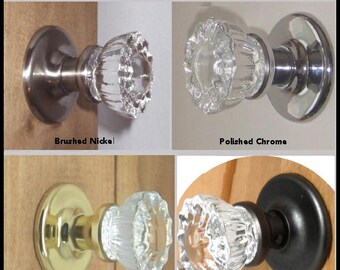 Crystal Door Knobs   Passage, Privacy, French Door U0026 Dummy Knobs. In Your  Choice Of Our Premium Finishes