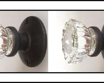 Superieur Crystal Glass Door Knob Sets. (2 Inch, 12 Point Fluted Knobs) Includes Our  Original Wood Adapters. A Very Affordable Door Knob