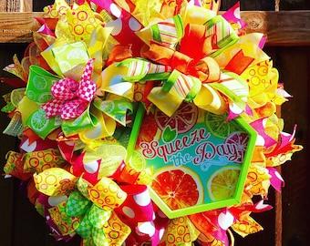Bright Summer Wreath, Citrus Wreath