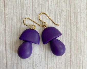 Mushroom Earrings/ Mushroom Dangle Earrings