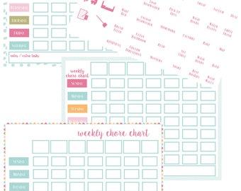 photo regarding Family Chore Chart Printable identify Relatives chore chart Etsy