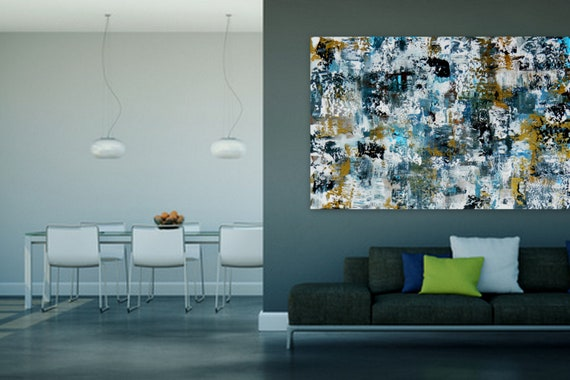 Sample Custom Order Large original modern abstract painting by Marcy Chapman Shipped ready to hang!