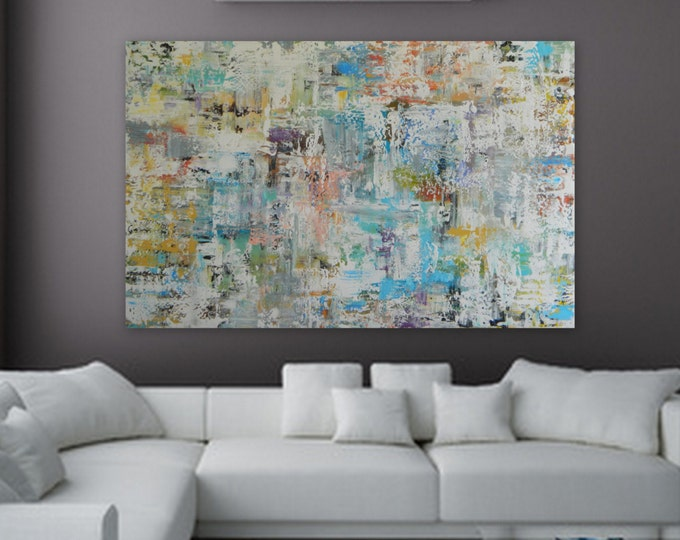 This is a Sample painting of one of Marcy Chapman's large Abstract paintings. It is a huge/ XL painting. Please request a cusotm order.