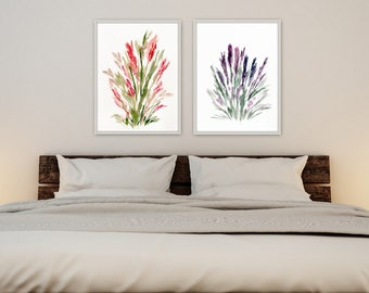 Floral farmhouse wall art print/giclee watercolor paper wall decore original art by Marcy Chapman 9 x11 8 x 10 unmatted