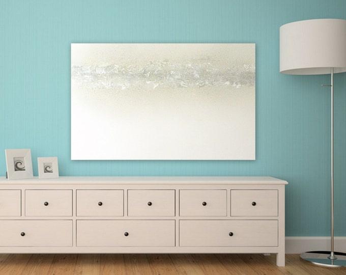 Wall art xl huge Ellegant Modern, Textured Large minimal abstract painting, decor metalic silver, metalic gold, white, gray custom