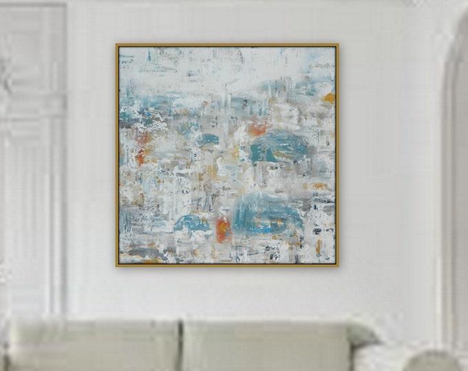 "36"" x 36"" Extra Large Painting  Modern XL, Large  Abstract Painting   wall art home decor  wall art large decor extra large pastel greece"