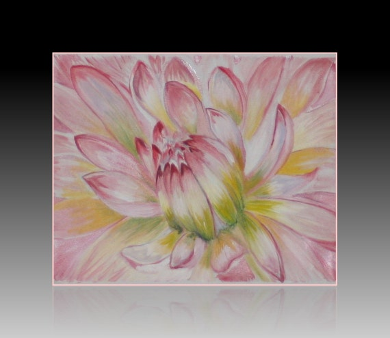 Large wall art huge floral artwork large pink flower wall decor original artwork modern art canvas art contemporary wall art painting